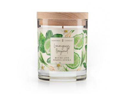 Vonná svíčka bergamot citronová tráva