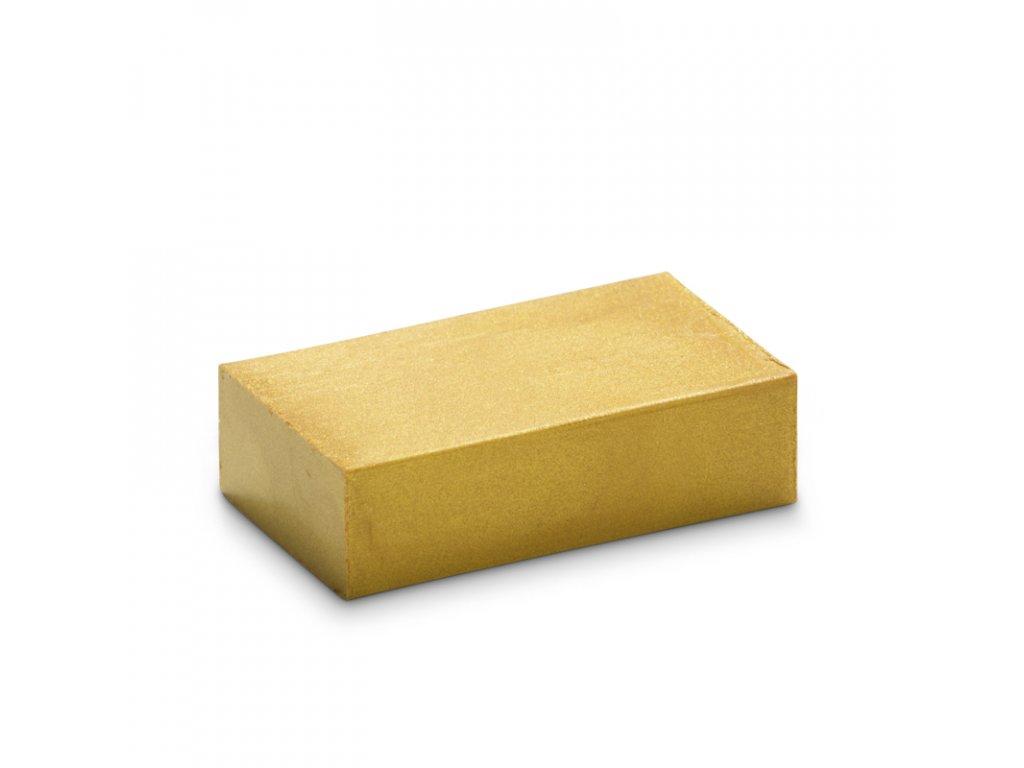 BLOK 25 metalická zlatá