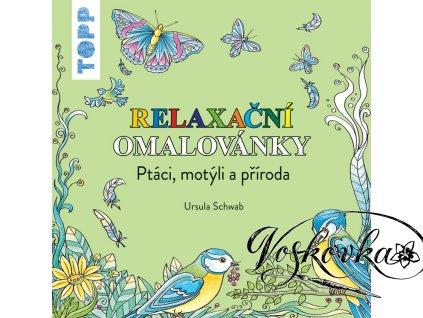 TOPP Relaxační omalovánky Ptáci, motýli a příroda