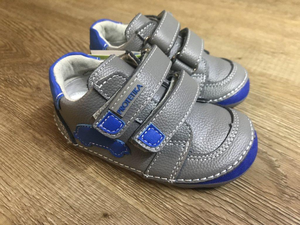 ccfedaac725f Protetika Levis (šedé) - dětská celoroční obuv - V pavučině