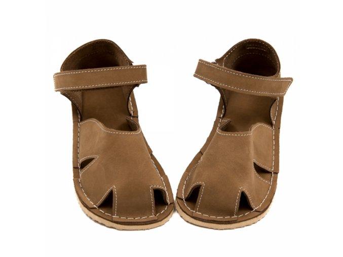 Zeazoo Nemo Beige nubuck - dětská letní obuv - sandály