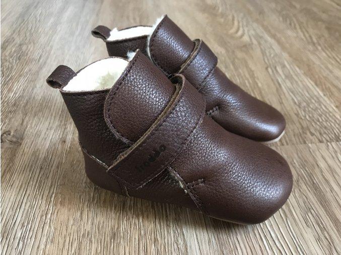 Froddo Prewalkers tmavě hnědé (kožešina) - dětská zimní obuv
