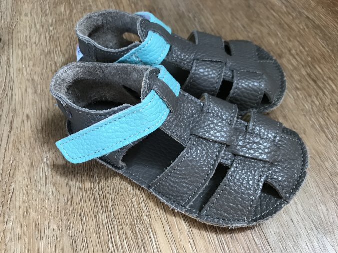 Baby Bare Shoes Sandals New - Blue Beetle