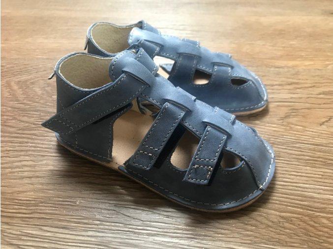 Orto+ Barefoot Maya D202 (modré) - dětská letní obuv, sandály