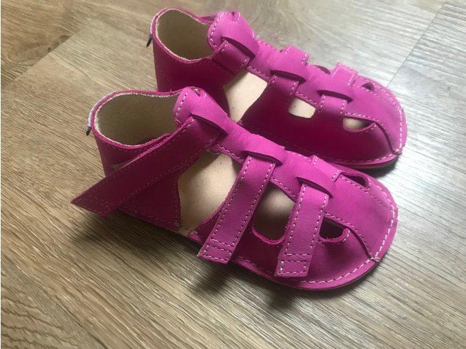 Orto+ Barefoot Maya D202 (fuchsiové) - dětská letní obuv, sandály