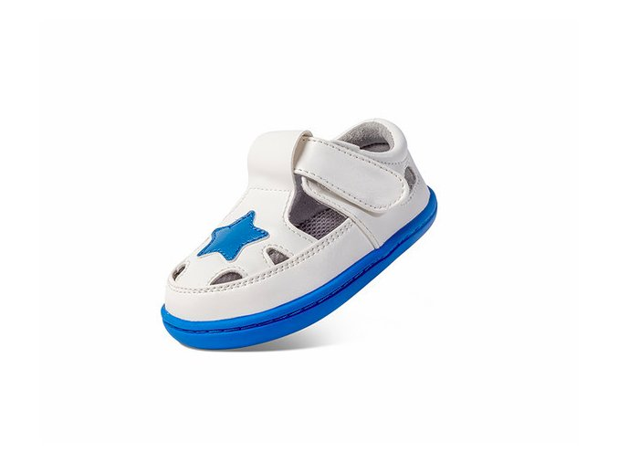 Little Blue Lamb Basty White - dětská letní obuv
