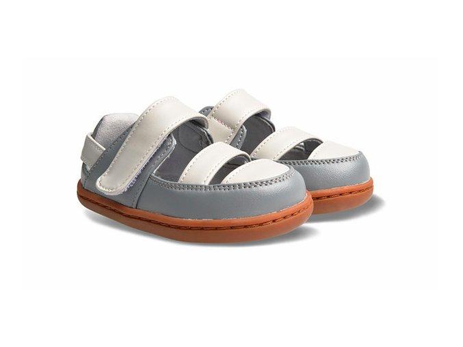Little Blue Lamb Baps Grey - dětská letní obuv