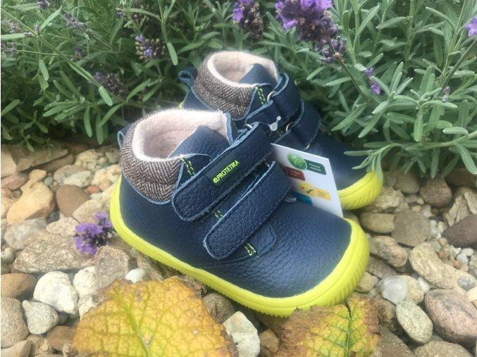 Protetika Harper navy - dětská zateplená obuv