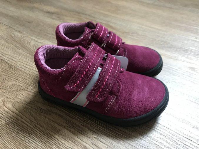 Jonap Barefoot B1SV (vínová, ref.) - dětská celoroční obuv