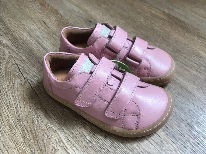 Froddo barefoot G3130148-6 (růžové) - kožená dětská celoroční obuv