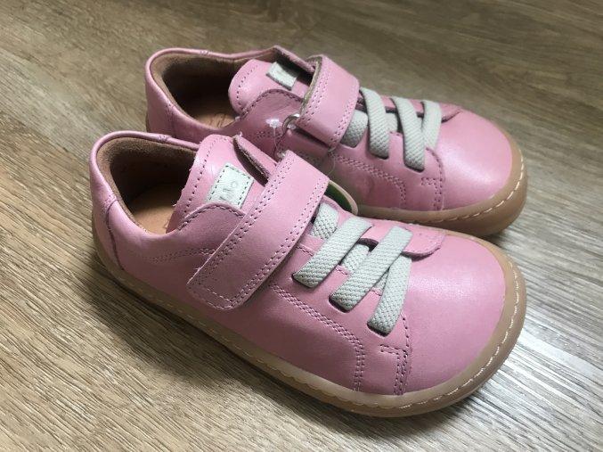 Froddo barefoot G3130149-6 (růžové) - kožená dětská celoroční obuv