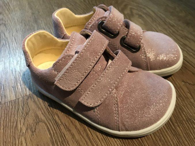 Baby Bare Shoes Febo Spring (Sparkle Pink) - dětská celoroční obuv