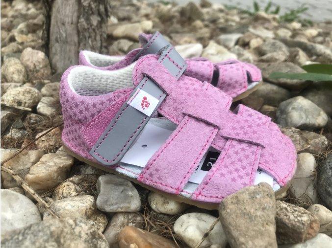 Ef barefoot sandálky, zelené - dětská letní obuv