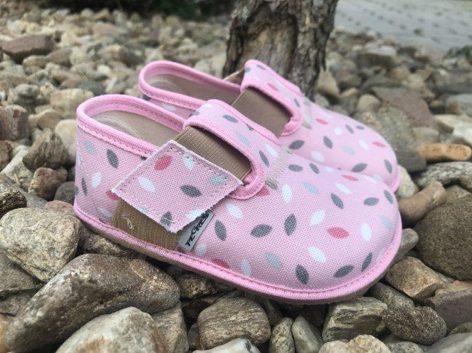 Pegres Barefoot papučky BF01 růžová