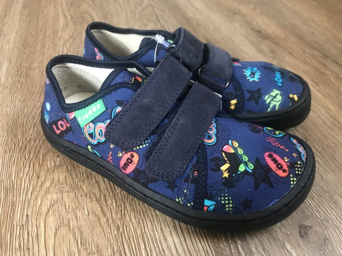 Froddo barefoot látkové (komix) - dětská celoroční obuv