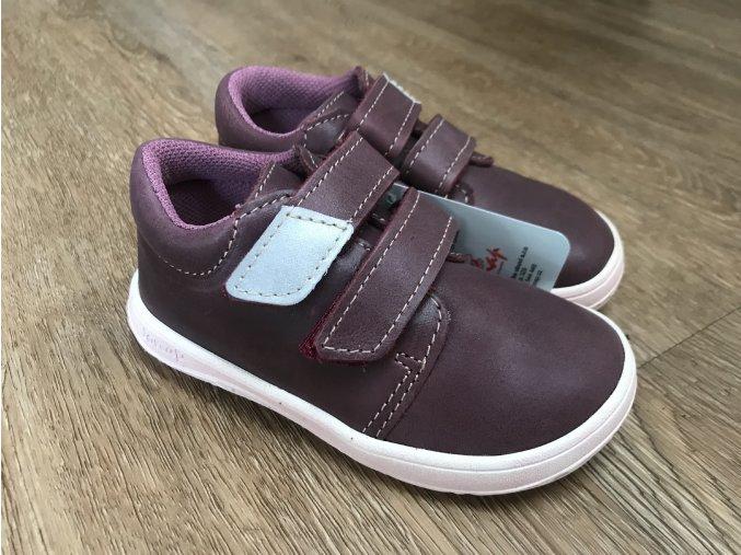 Jonap Barefoot model B1/MV vínová - dětská celoroční obuv