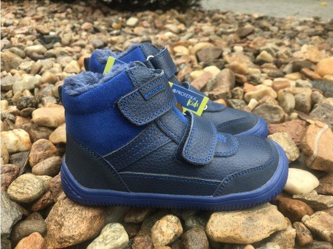 Protetika Tyrel Blue - dětská zimní obuv