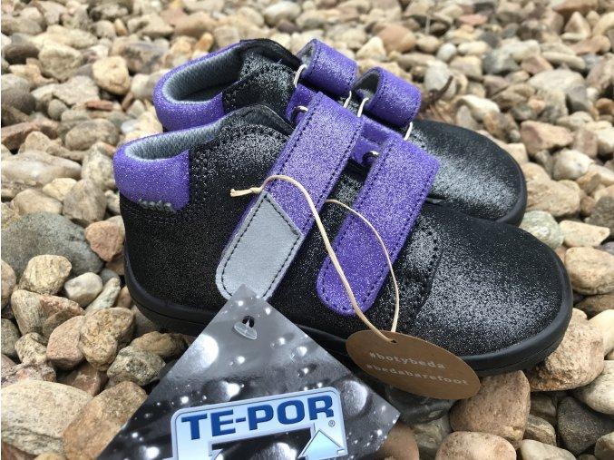 Beda Barefoot Violette (kotníkové, s membránou) - dětská celoroční obuv