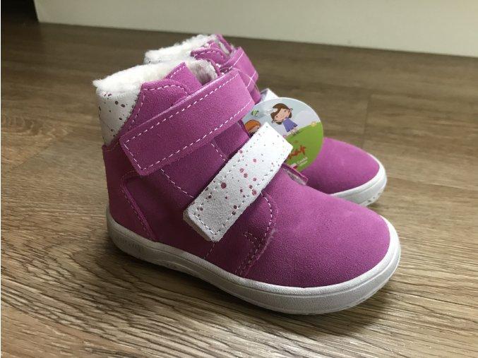 Jonap Barefoot B4SV SLIM (růžová) - dětská zimní obuv