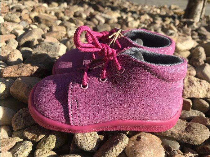 Beda Barefoot Janette All Pink (kotníkové, s membránou) - dětská celoroční obuv