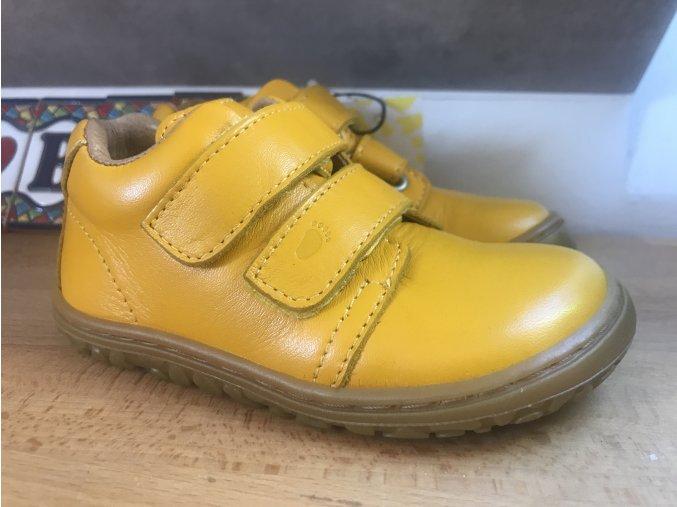 Lurchi Noah Yellow - kožená dětská celoroční obuv
