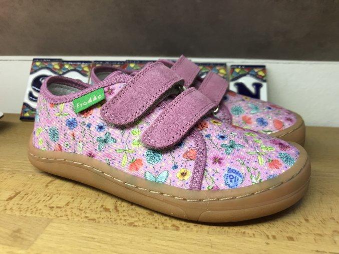 Froddo barefoot látkové (růžová louka) - dětská celoroční obuv