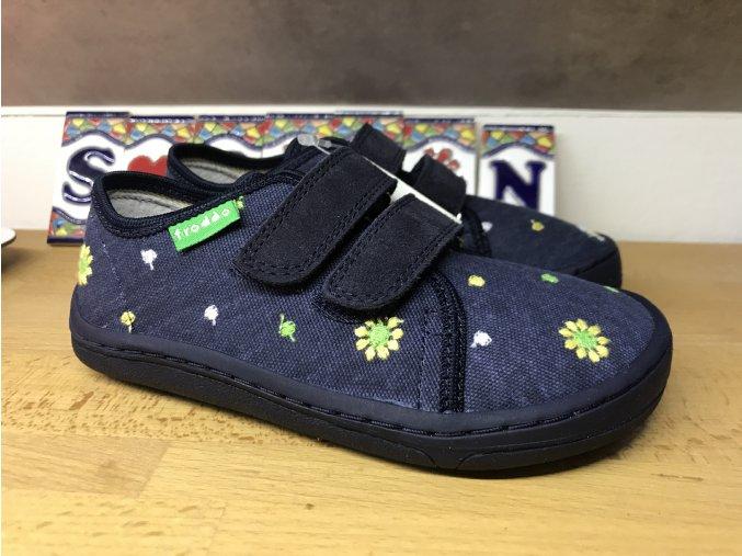 Froddo barefoot látkové (modrá kytka)