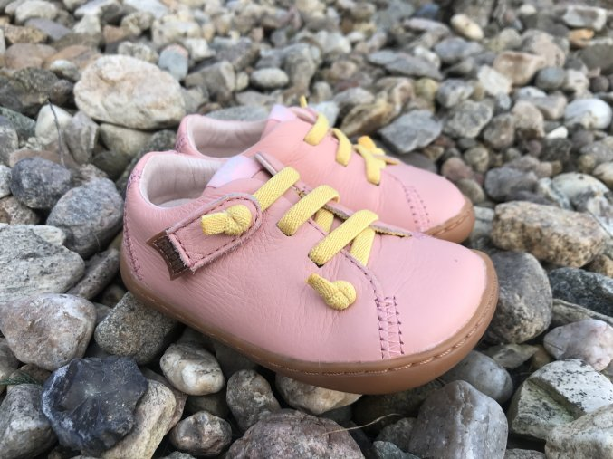 Camper Peu Cami Pink - dětská kožená obuv