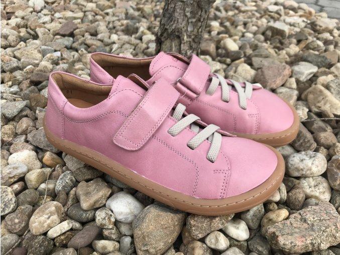 Froddo barefoot G3130175-6 (světle růžové, jeden pásek) - kožená celoroční obuv