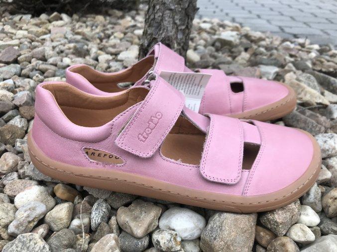 Froddo barefoot G3130197-5 (světle růžové) - kožené sandály