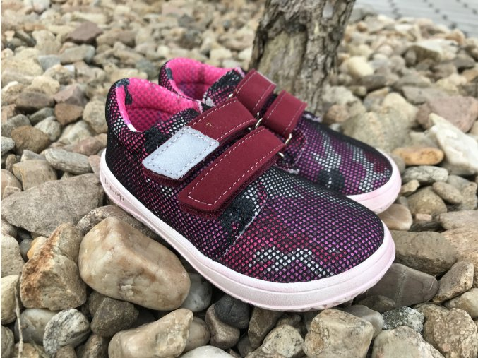 Jonap Barefoot model B7V (vínové) - dětská celoroční obuv