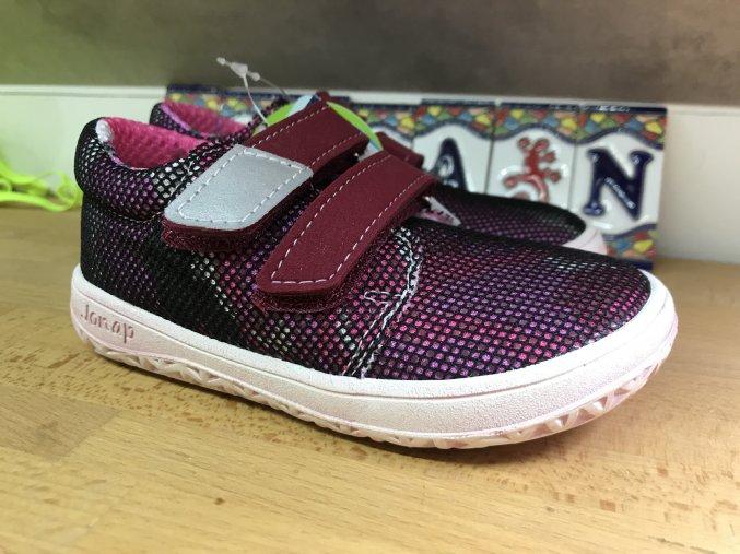 Jonap Barefoot model B7V SLIM (vínová barva) - dětská celoroční obuv