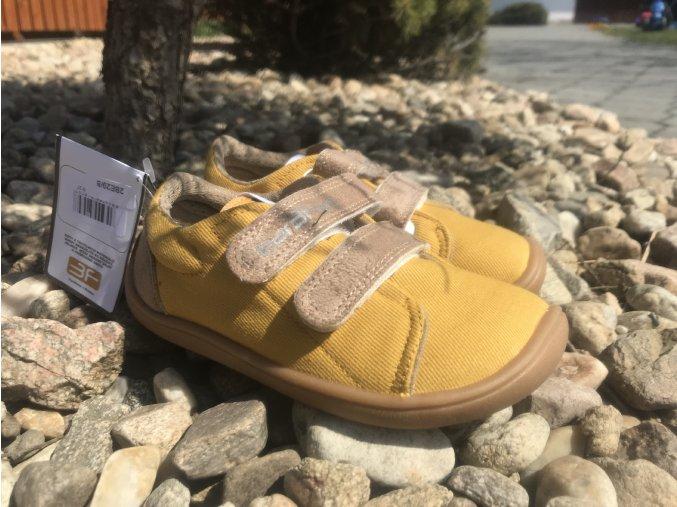 3F bar3Foot žluté - dětské látkové tenisky