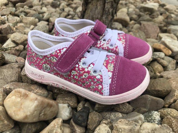 Jonap Barefoot model B15 Airy SLIM (růžové) - dětská celoroční obuv