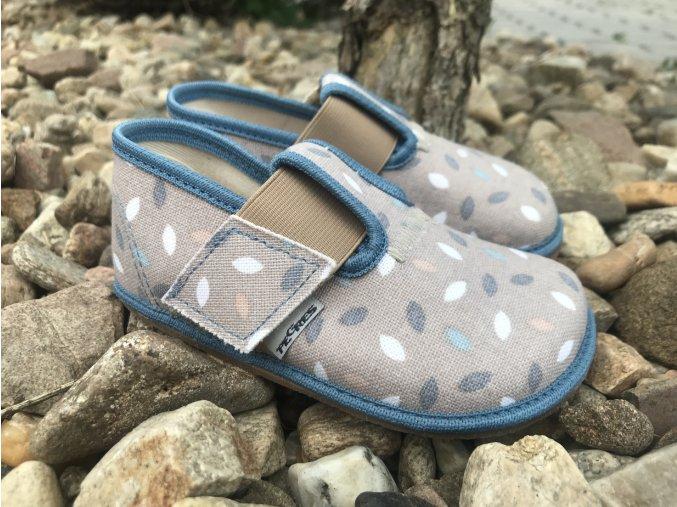 Pegres Barefoot papučky BF01 modré