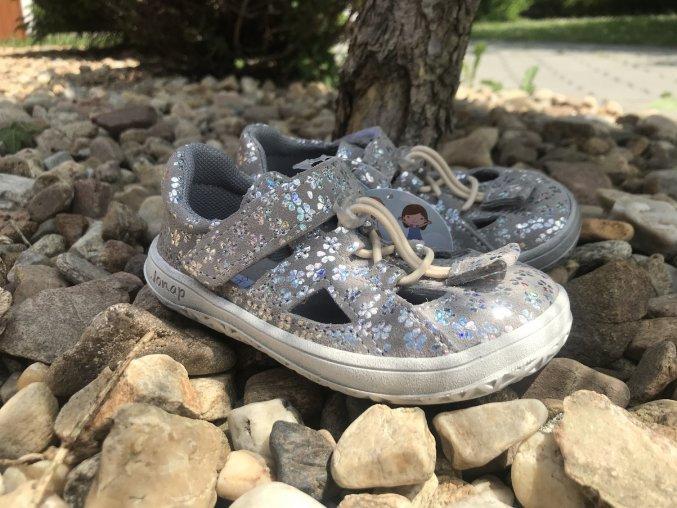 Jonap Barefoot B9S (kytka šedá) - dětská letní obuv
