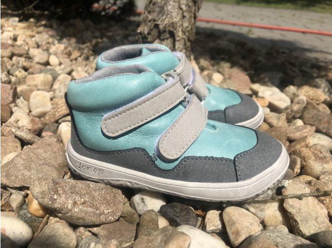 Jonap Barefoot Bella Mint (M) - dětská celoroční obuv