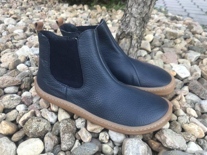 Froddo barefoot G3160159 (tmavě modré, chelsea) - kožená celoroční obuv