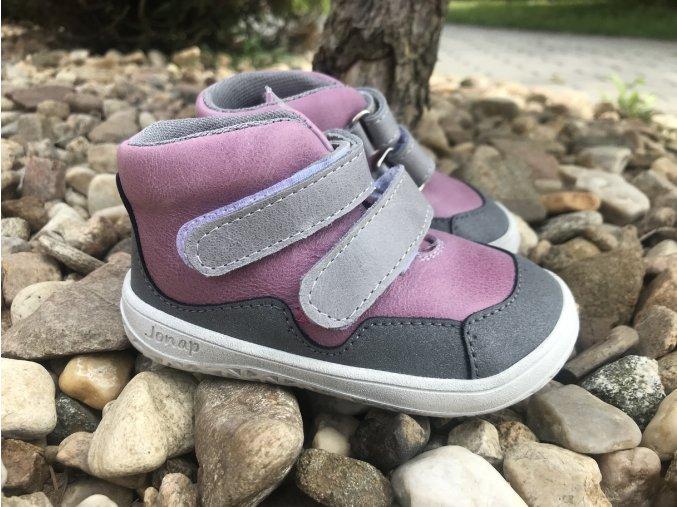 Jonap Barefoot Bella růžová (M) - dětská celoroční obuv