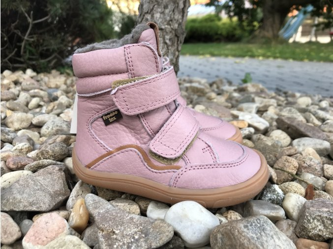 Froddo barefoot G3160164-5 (růžové, s membránou) - dětská zimní obuv