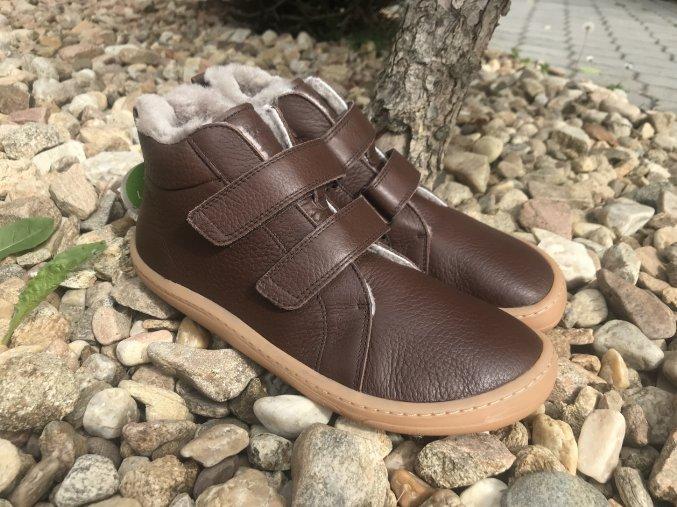 Froddo barefoot G3110195-2K (hnědé) - kožená zimní obuv