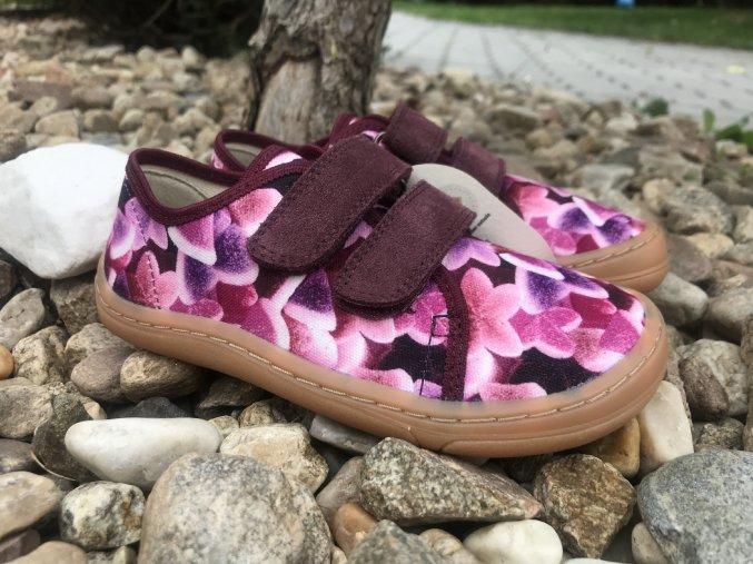 Froddo barefoot látkové (fialovo-růžové) - dětská celoroční obuv