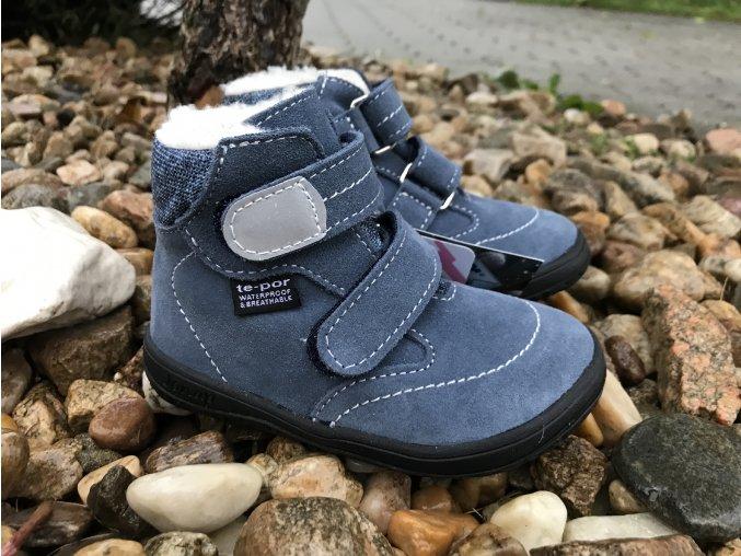 Jonap Barefoot B5/S (modrá) - dětská zimní obuv