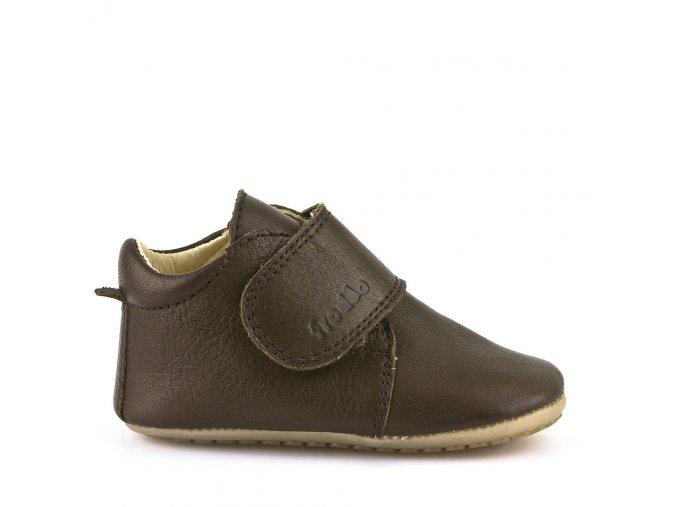 Froddo Prewalkers tmavě hnědé - dětská celoroční obuv
