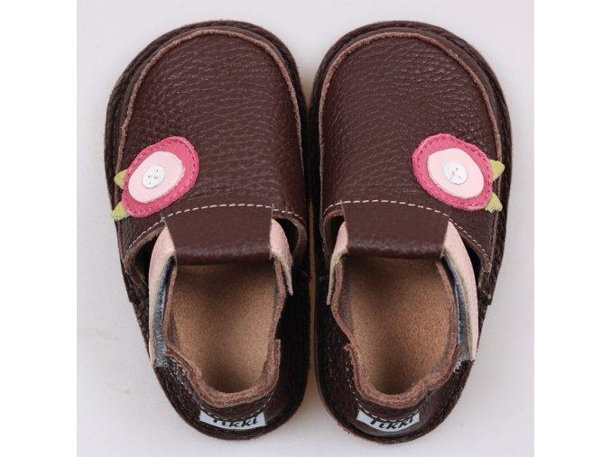 Pantofi maro floare