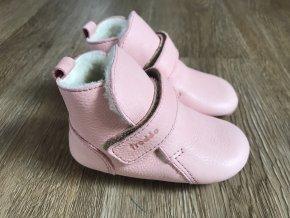 Froddo Prewalkers světle růžové (kožešina) - dětská zimní obuv