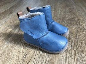 Froddo Flexible modré (válenky) - kožená dětská zimní obuv