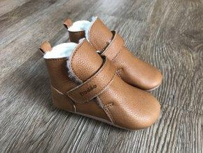 Froddo Prewalkers světle hnědé (kožešina) - dětská zimní obuv