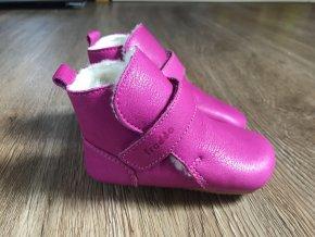 Froddo Prewalkers tmavě růžové (kožešina) - dětská zimní obuv