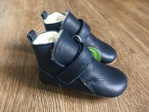 Froddo Prewalkers tmavě modré (kožešina) - dětská zimní obuv